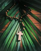 pic of rosary  - Palm Sunday still life  - JPG