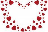 Valentine Velvet Heart Background