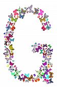 stock photo of g-spot  - Butterfly font in white - JPG