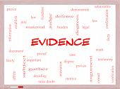 Evidence Word Cloud Concept On A Whiteboard