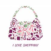Woman accessories shopping bag