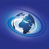 Information Everywhere - Globe Design Illustration