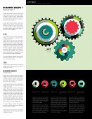 Infographics set elements. Vector flat design template. Charts, graphs and speech bubblse for print