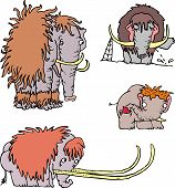stock photo of mammoth  - Cute funny mammoth cartoons - JPG