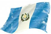 flag of Guatemala in the wind with a texture
