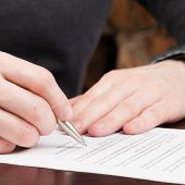 Businessman ready to sign contract