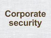 Security concept: Corporate Security on fabric texture background