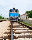 Electrical Train On Train Station In Eastern Europe, Croatia.