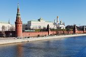 Kremlin, Embankment, Moskva River In Moscow