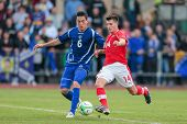 TRAISKIRCHEN, AUSTRIA - JUNE 5 Jozo Cpikic? (#6 Bosnia and Herzegovina) and Alessandro Schaepf (#14