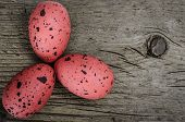 Painted Red Eggs