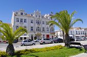 image of tenement  - Hotel in tenement house on the coastal street in Vila Real de Santo Antonio Algarve Portugal - JPG