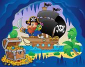 Pirate ship theme image 3 - eps10 vector illustration.