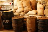 Oak Barrels & Gunny Sacks
