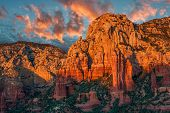 Sedona Canyon At Sunset