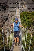 The famous hanging bridge of Ankarana