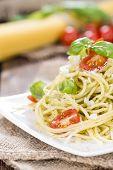 Spaghetti With Basil Pesto