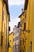 Narrow streets of historic downtown of Parma, Emilia-Romagna