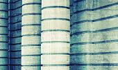 Grungy Columns, Abstract Architecture With Toned Effect