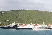 Four Yachts In St Thomas