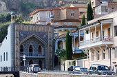 Famous Tbilisi Landmark - Mosque Near Medieval Sulphur Bathes In Abanotubani District,meidan Square