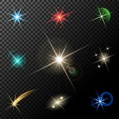 picture of xmas star  - vector glowing lights - JPG