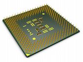 pic of processor socket  - modern processor for computer on white background - JPG