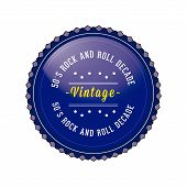50´s Vintage, Retro Style Badge