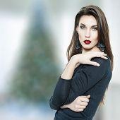 Fashionable Woman At Christmas
