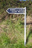 Cliff Walk Sign In Ballybunion