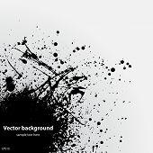 Black grunge ink blot