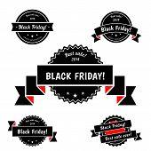 Black Friday Sale vector elements