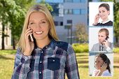 Business Partnership Concept - Beautiful Woman Calling By Phone