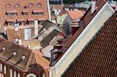 Cityscape Panorama Of Old Town Tallinn, Estonia