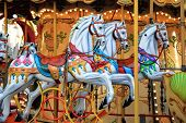 stock photo of carousel horse  - Carousel horse near the Palais des Papes in Avignon France.
