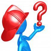 Fireman Holding A Question