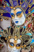Carnival Masks Of The World Most Famous Grand Canal Venice Historical Center