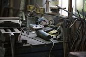 workbench in the workshop