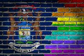 Dark Brick Wall - Lgbt Rights - Michigan