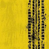 Tire track yellow