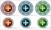 Set Of Six Icons With Plus Ymbol