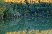 Vintage Autumn Forest And Lake