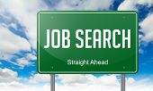 Job Search on Highway Signpost.