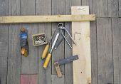 Set of vintage carpenter tools