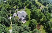 Countryside Home Aerial View