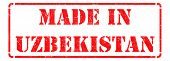 Made in Uzbekistan on Red Stamp.