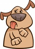 Dog Expressing Yuck Cartoon Illustration
