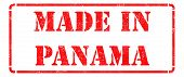 Made in Panama on Red Stamp.