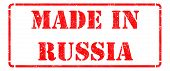 Made in Russia on Red Stamp.