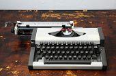 Vintage Travel Typewriter